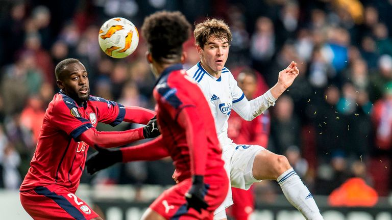 Tottenham are monitoring FC Copenhagen's Robert Skov