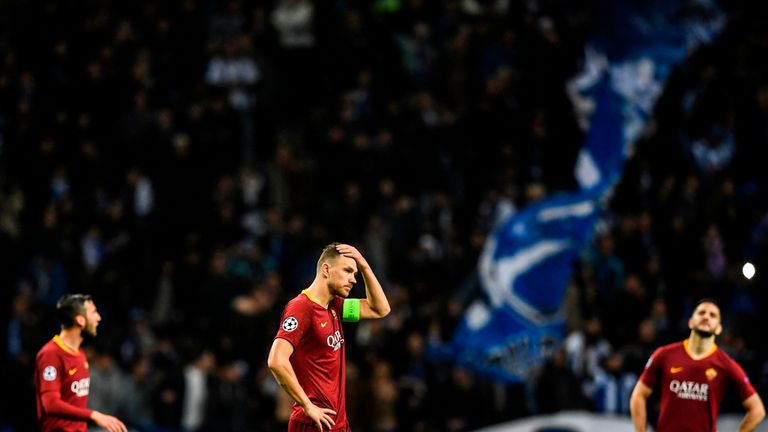 Roma were knocked out the Champions League by Porto on Wednesday