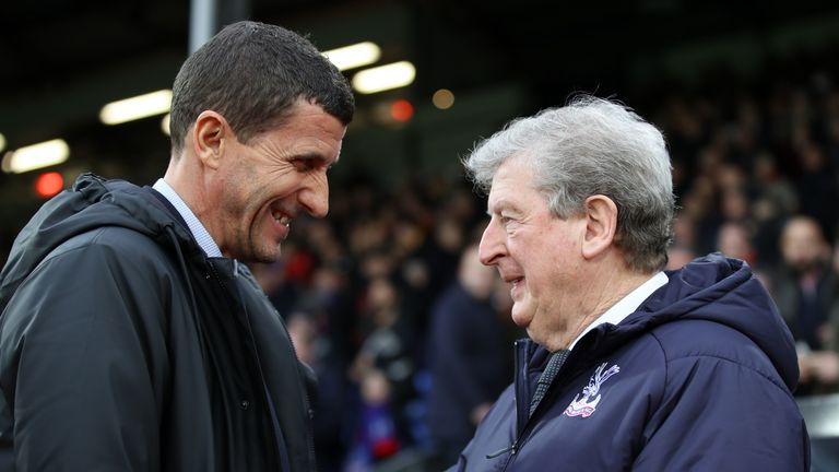 Javi Gracia has beaten Roy Hodgson in all three of Watford's games against Crystal Palace this season