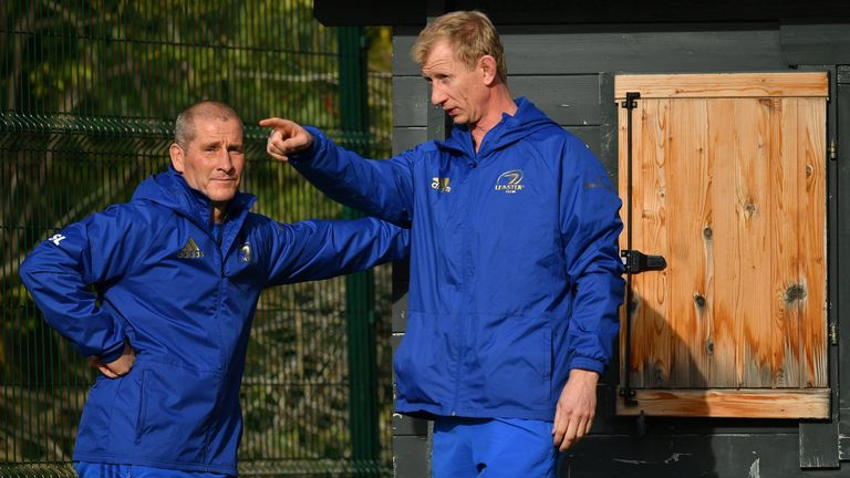 Stuart Lancaster (left) and Leo Cullen have committed to Leinster