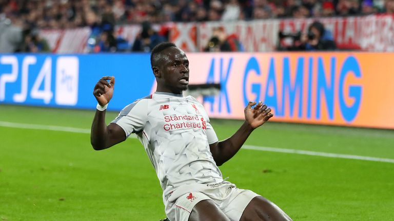 Sadio Mane scored twice against Bayern Munich on Wednesday to seal Liverpool's place in the Champions League quarter-finals