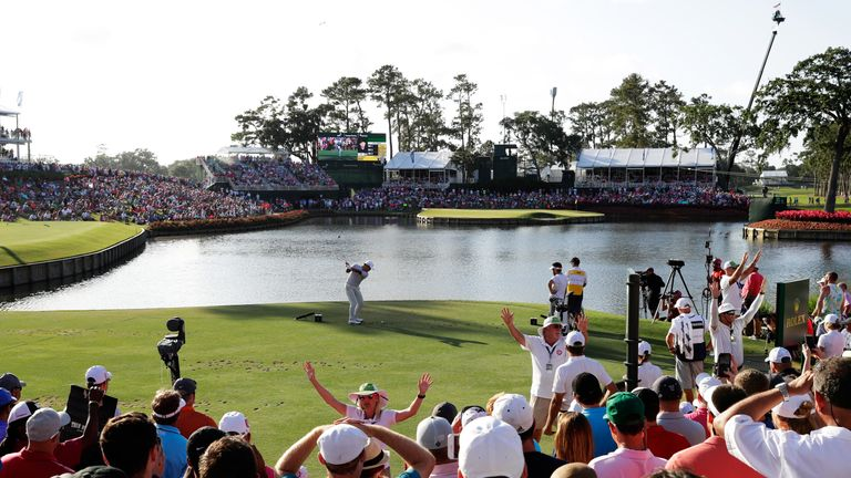 Large crowds gathered for the opening round at TPC Sawgrass