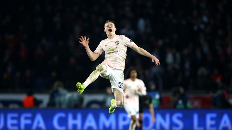 McTominay played 90 minuted for United in their stunning Champions League second leg victory against PSG in March