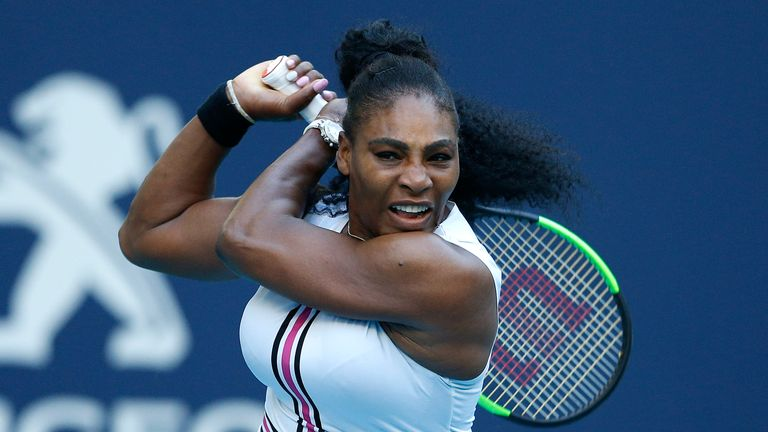Serena Williams needed three sets to book her place in the last 16
