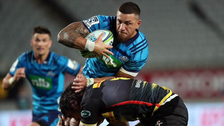 Sonny Bill Williams in action for the Blues
