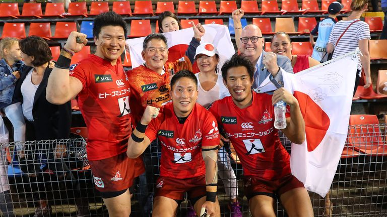 The Sunwolves picked up a history-making first Super Rugby win on Australian soil - four weeks after achieving the same feat in New Zealand