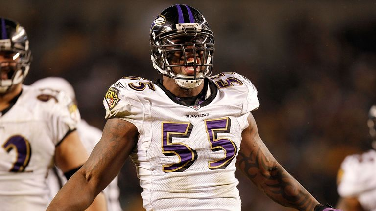 Terrell Suggs has played 229 games for the Baltimore Ravens