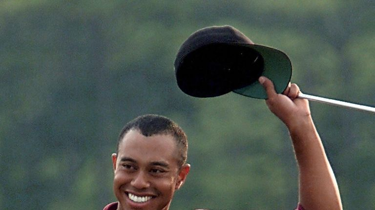 Tiger Woods won the Masters in 1997, 2001, 2002 and 2005