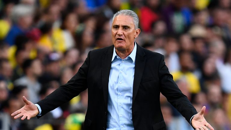 Brazil coach Tite was left unhappy with his side's performance
