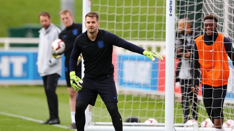 Heaton was in England's UEFA Nations League finals squad