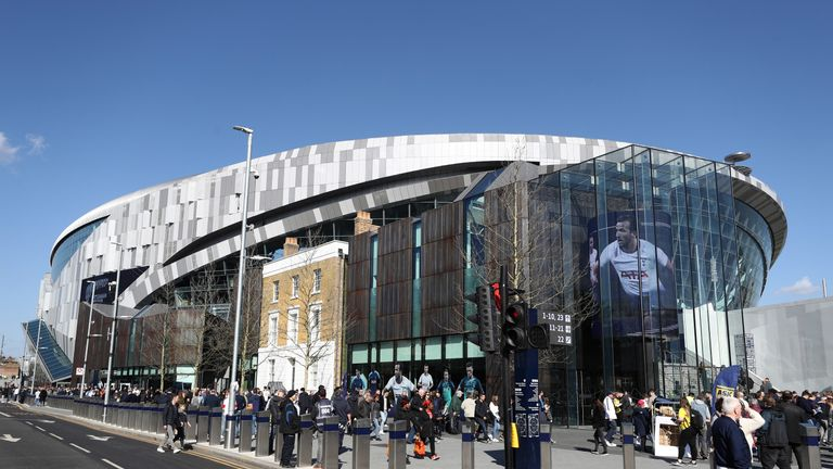 Tottenham Hotspur Stadium hosted its first match on Sunday