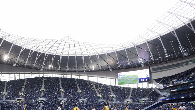 Tottenham's U18 team were the first players to grace the new stadium