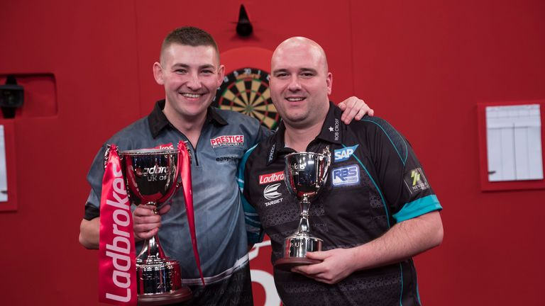 Nathan Aspinall (L) defeated Cross in Sunday's final