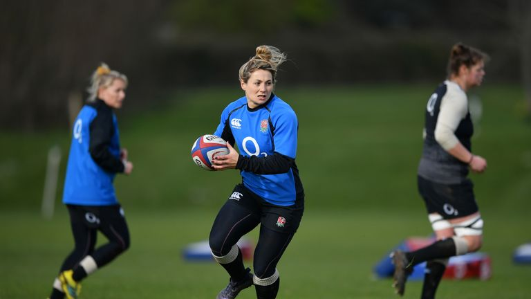Vicky Fleetwood is back in the No 7 jersey for England