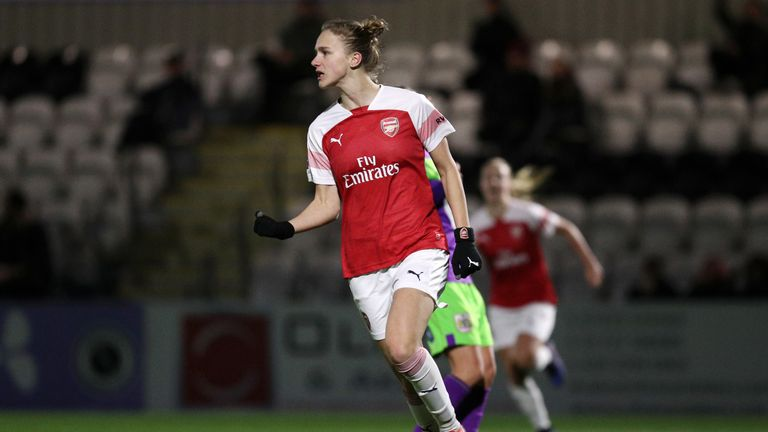 Vivianne Miedema's hat-trick saw off Bristol City with ease