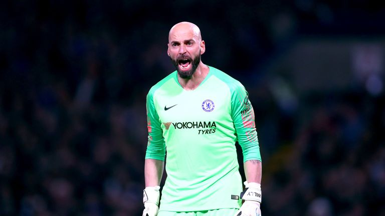 Willy Caballero could keep his place in goal for the trip to Fulham says Sarri