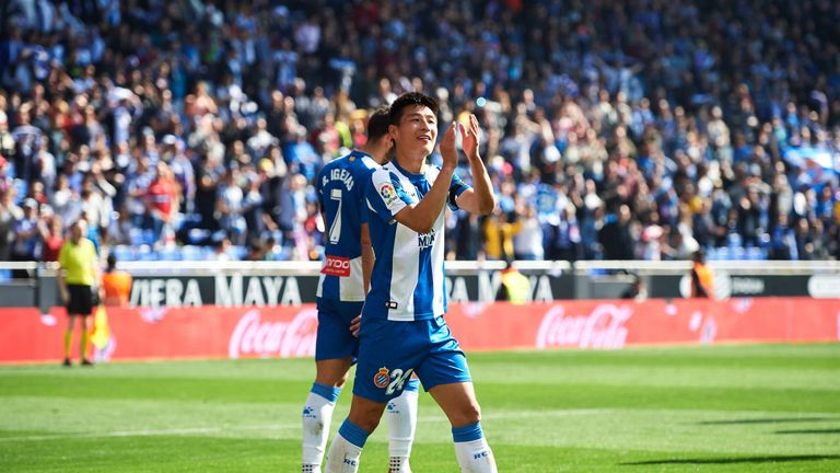 Wu scored his first La Liga goal against Real Valladolid