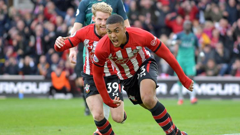 Yan Valery equalises for Southampton at home to Tottenham on Saturday