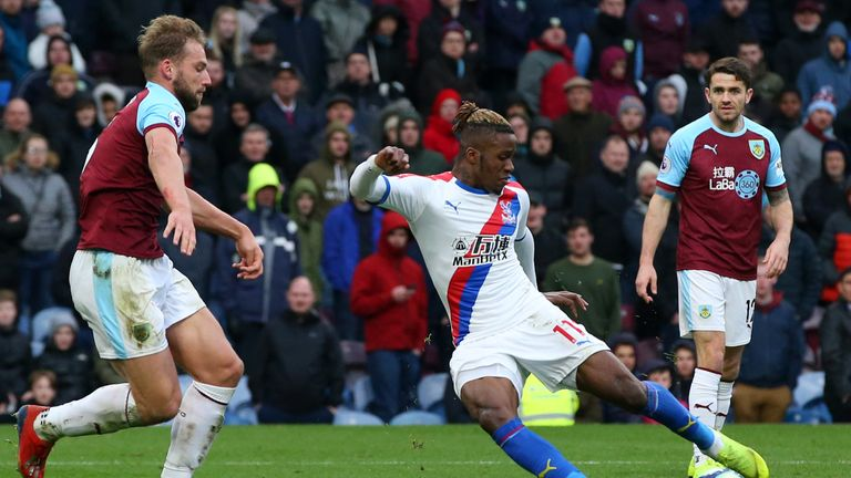 Wilfried Zaha scores a wonderful individual goal to extend Palace's lead