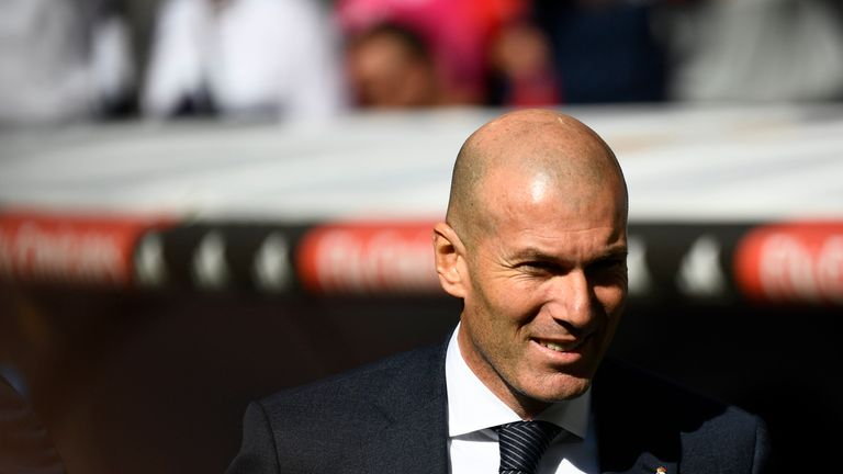 Zinedine Zidane was back in the Real Madrid dugout at the Bernabeu