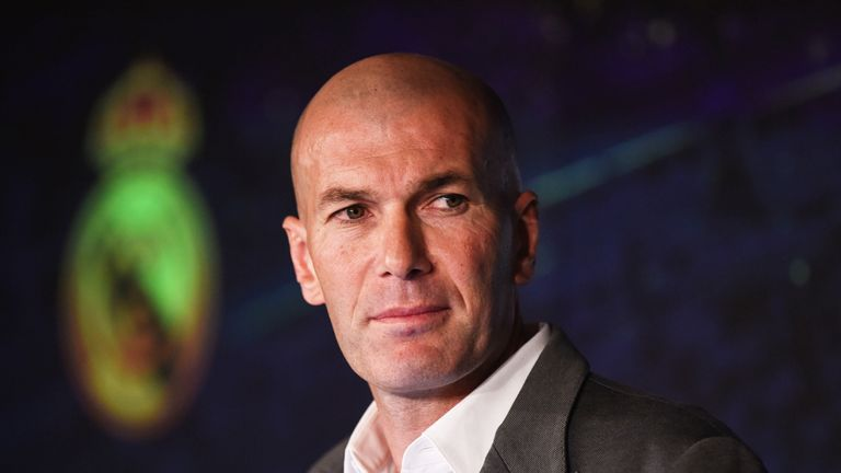 Zidane won three consecutive Champions League titles during his first spell as Real manager