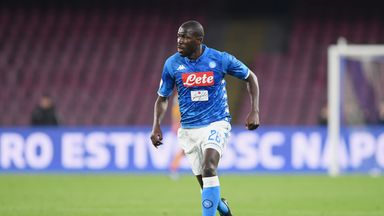 Kalidou Koulibaly scored in each half for Napoli on Sunday