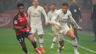 PSG were beaten 5-1 by Lille in Ligue 1 on Sunday