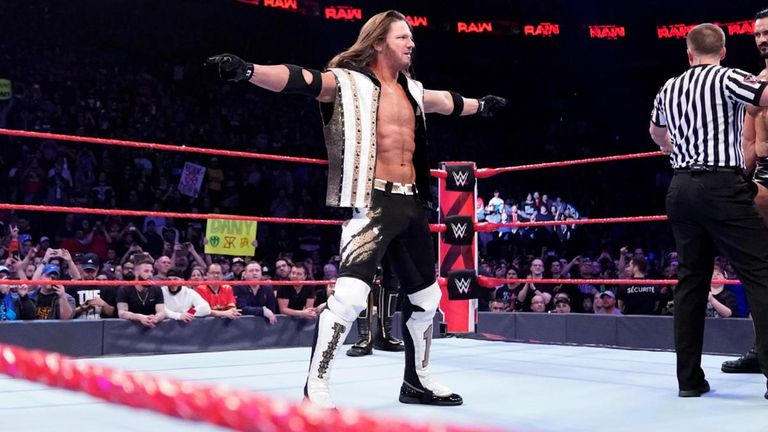 Former WWE champion AJ Styles is now on Raw and could challenge Seth Rollins for his Universal title