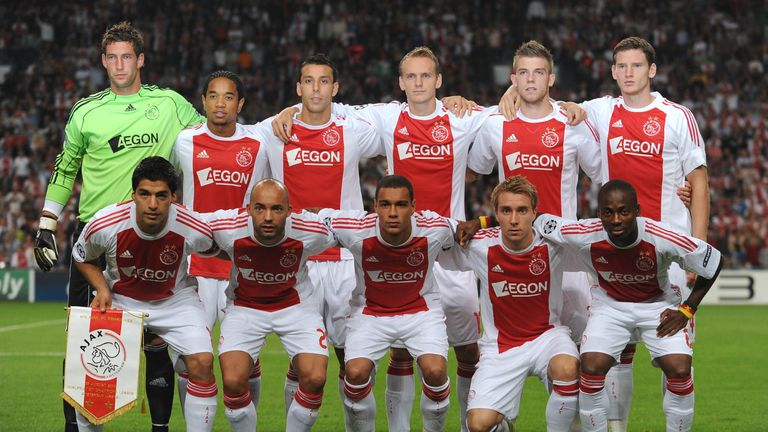 Alderweireld, Vertonghen, Eriksen and Eyong lining up together for Ajax