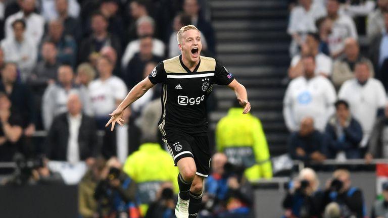 Donny van de Beek scored against Tottenham in the Champions League semi-finals