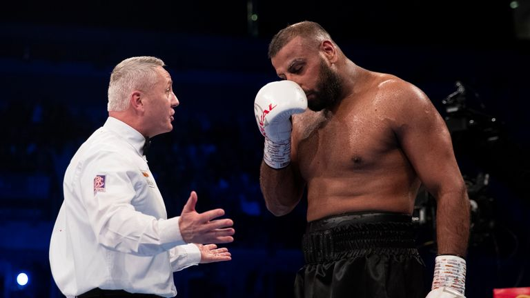 Kash Ali was disqualified from his heavyweight fight against David Price in the fifth round