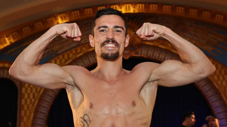 Crolla appeared in peak condition at the media workout