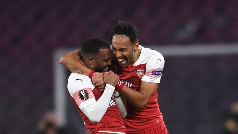 Alexandre Lacazette's goal proved the only strike of the night in Naples