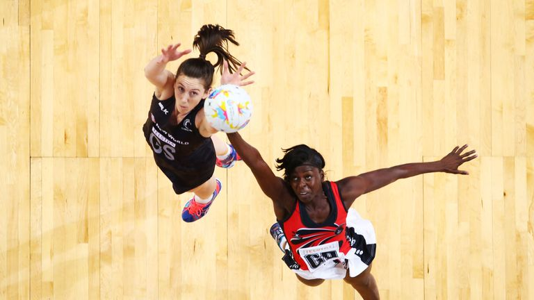 2015 Netball World Cup match between New Zealand and Trinidad & Tobago