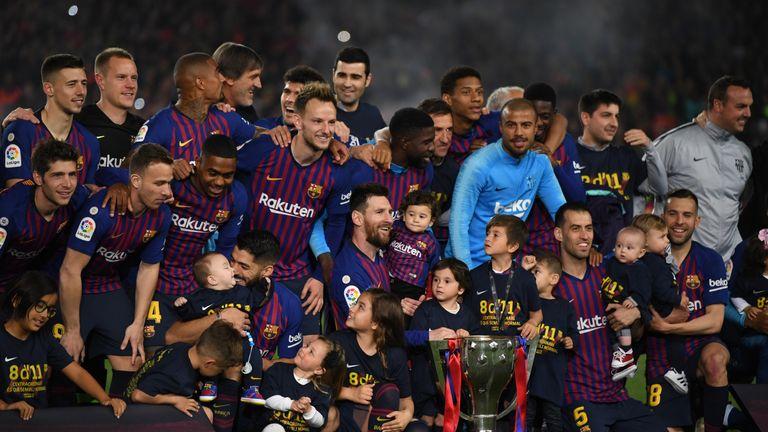Barcelona retained the La Liga title on Saturday with a 1-0 win over Levante
