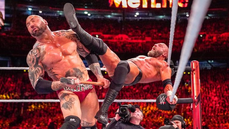 Batista had what has transpired to be his final WWE match at WrestleMania, losing to Triple H