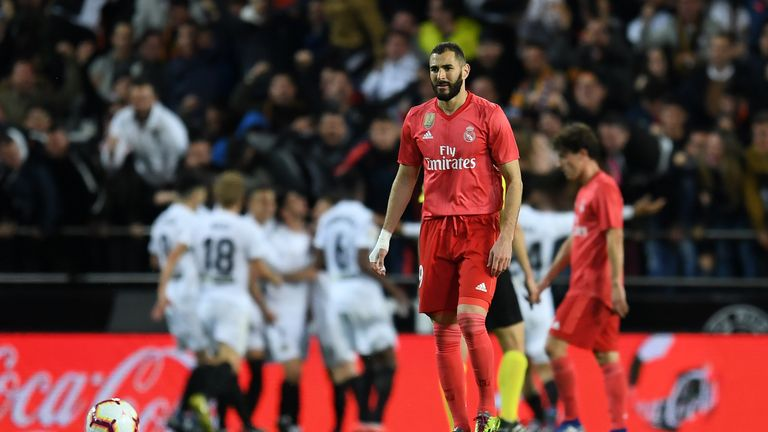 Karim Benzema's goal proved in vein as Real Madrid lost for the first time since Zinedine Zidane's return