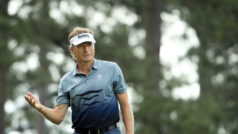 Bernhard Langer was unhappy about being warned for slow play