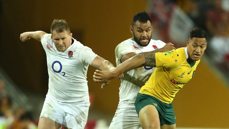 England's Billy Vunipola faces questioning from the RFU after backing Folau's stance