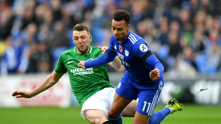 Brighton can move eight points clear of Cardiff with a win on Tuesday