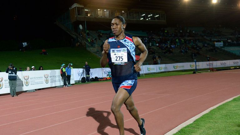 Semenya took part in the South African Athletics Championships last week