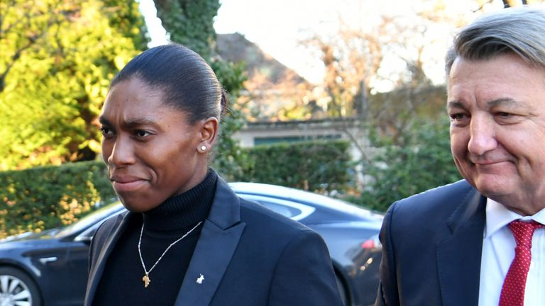 Caster Semenya attended a hearing at the Court of Arbitration for Sport in Lausanne in February
