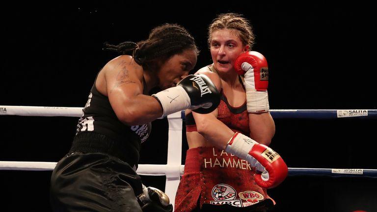 Hammer in action against Tori Nelson in Detroit