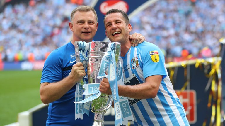 Robins' Coventry won the 2017/18 League Two play-off final