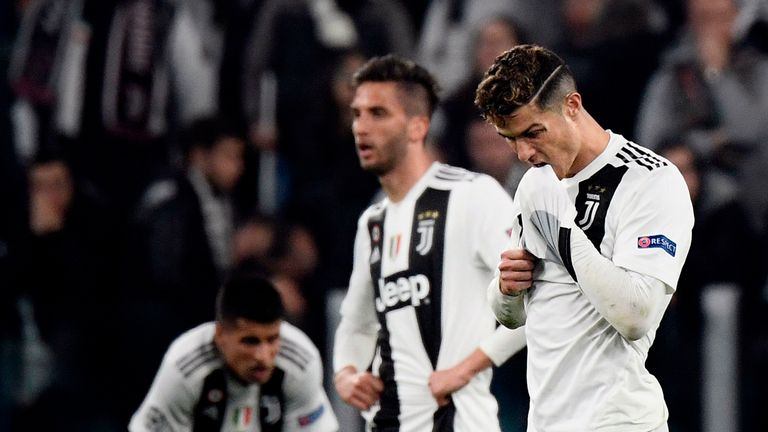 Cristiano Ronaldo was unable to prevent Juventus from exiting the Champions League to Ajax