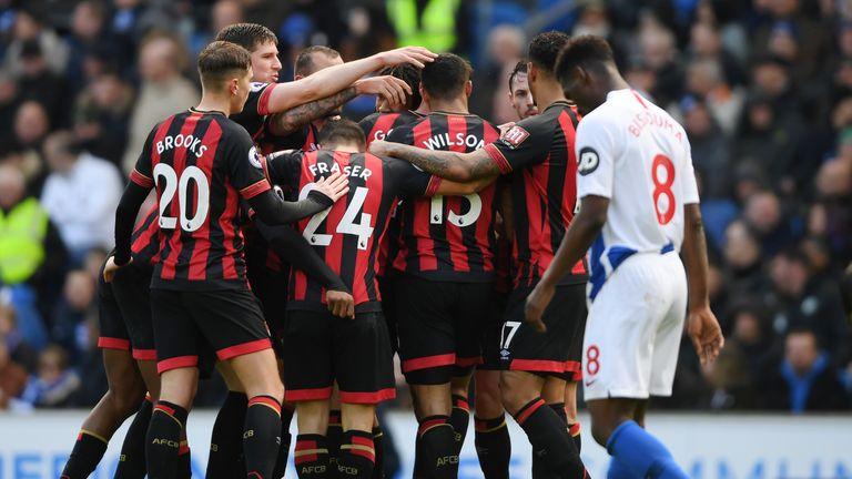 Brighton's players endured a difficult afternoon against Bournemouth on Saturday