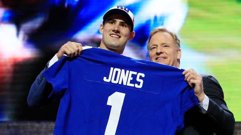 Quarterback Daniel Jones can't wait to team up with Eli Manning in New York