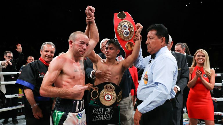 Roman added the IBF belt to his WBA 'super' title