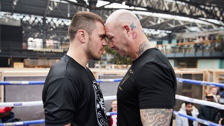 David Allen collides with Lucas Browne in a heavyweight clash