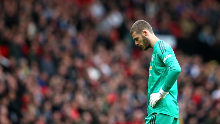 De Gea has come in for criticism after a spate of high-profile errors